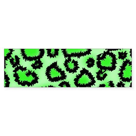 Bright green animal print Sticker (Bumper)