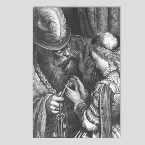 Dore's Bluebeard Postcards (Package of 8)