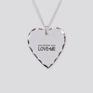 GG You know you love me Necklace Heart Charm