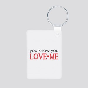 GG You know you love me Aluminum Photo Keychain
