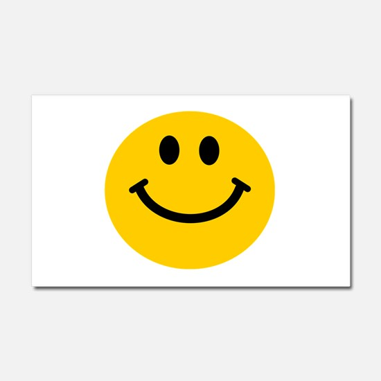 Yellow Smiley Face Car Magnet 20 x 12