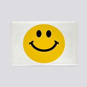 Yellow Smiley Face Rectangle Magnet