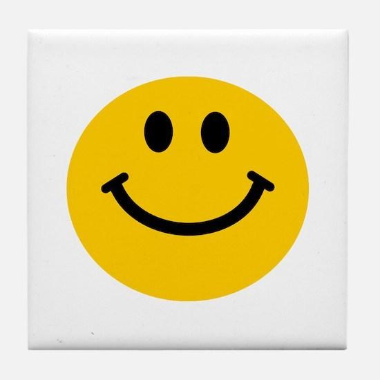 Yellow Smiley Face Tile Coaster