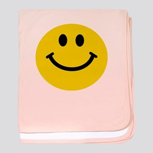 Yellow Smiley Face baby blanket