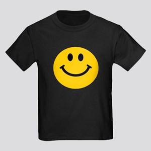 Yellow Smiley Face Kids Dark T-Shirt