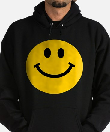 Yellow Smiley Face Hoodie (dark)