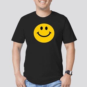 Yellow Smiley Face Men's Fitted T-Shirt (dark)