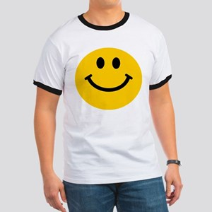 Yellow Smiley Face Ringer T