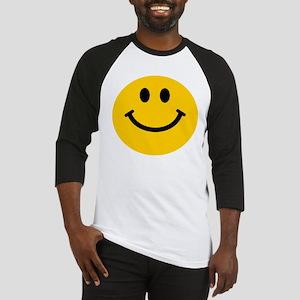 Yellow Smiley Face Baseball Jersey