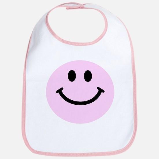 Pink Smiley Face Bib
