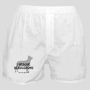 I RESCUE Beaucerons Boxer Shorts