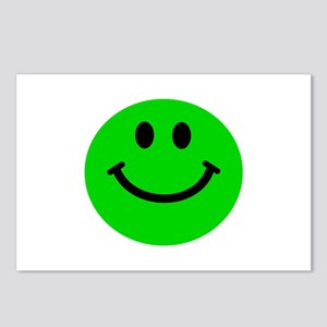 Green Smiley Face Postcards (Package of 8)