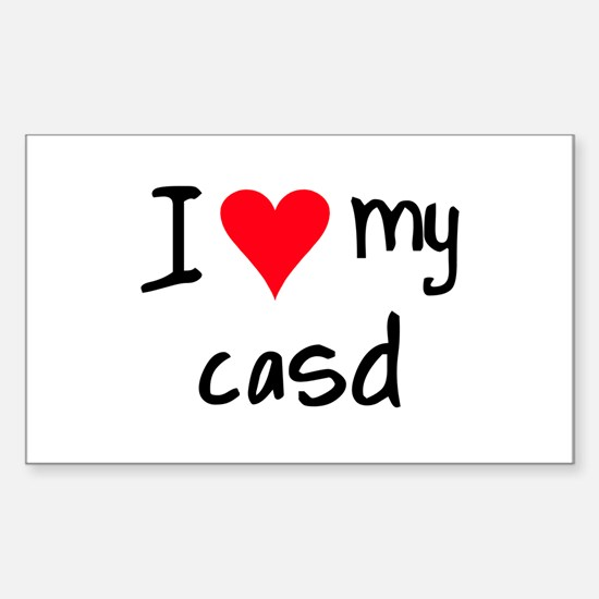 I LOVE MY CASD Sticker (Rectangle)