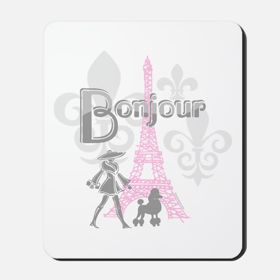 Bonjour Paris 2 Mousepad