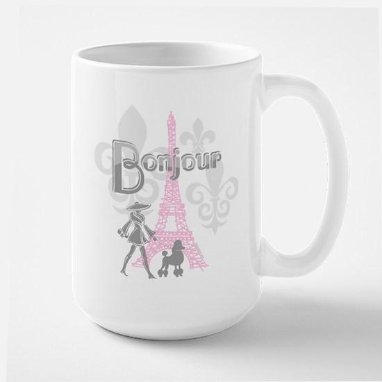 Bonjour Paris 2 Large Mug