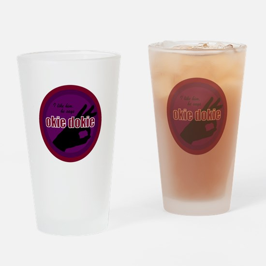 Okey Dokey Drinking Glass