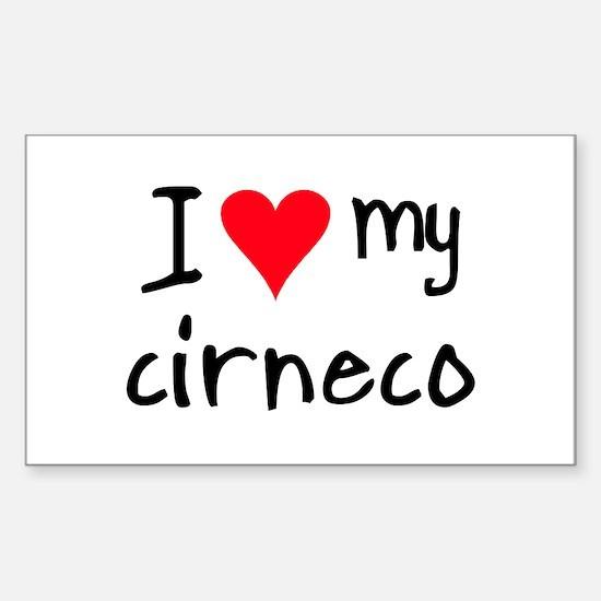 I LOVE MY Cirneco Sticker (Rectangle)