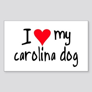 I LOVE MY Carolina Dog Sticker (Rectangle)