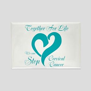 Stop Cervical Cancer Rectangle Magnet