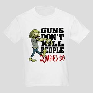 Guns Don't Kill People - Zombie Kids Light T-Shirt
