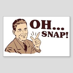 "Retro ""Oh... Snap!"" Rectangle Sticker"