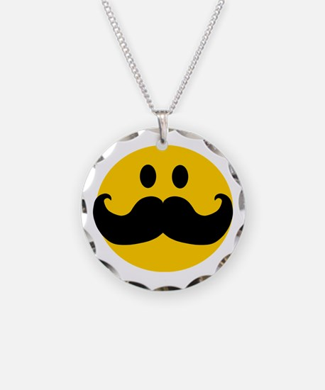 Mustached Smiley Necklace