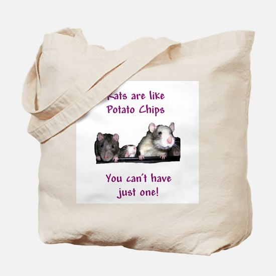 Rat Chips Tote Bag