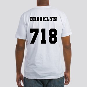 """""""BROOKLYN 718"""" Fitted T-Shirt"""