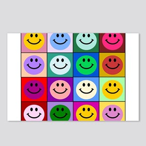 Multicolor Smiley Pattern Postcards (Package of 8)