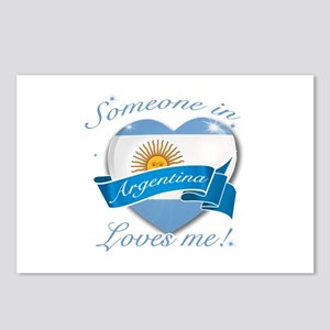 Argentina Flag Design Postcards (Package of 8)