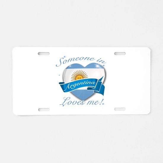 Argentina Flag Design Aluminum License Plate