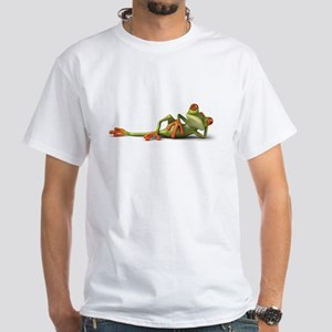 Lazy Frog White T-Shirt