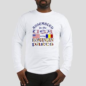 USA/Romanian Parts Long Sleeve T-Shirt