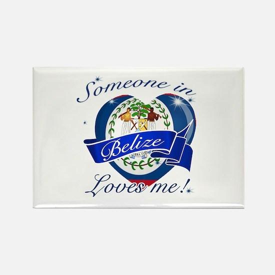 Belize Flag Design Rectangle Magnet