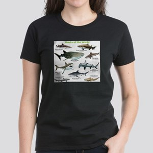 Sharks of the World Women's Dark T-Shirt