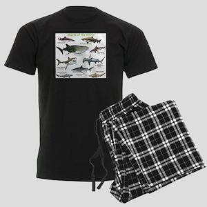 Sharks of the World Men's Dark Pajamas