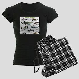 Sharks of the World Women's Dark Pajamas