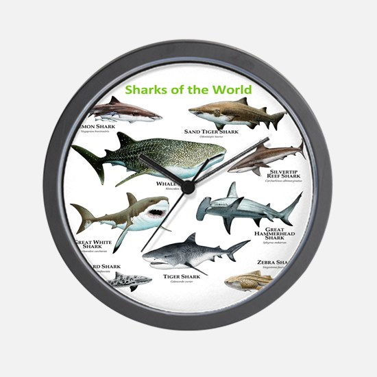 Sharks of the World Wall Clock