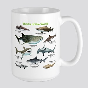 Sharks of the World Large Mug