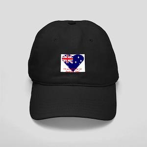 Australia Fan Flag Black Cap