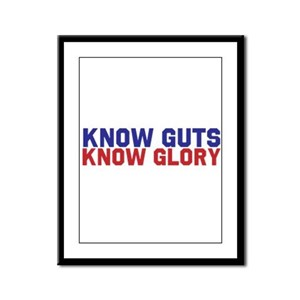 Know Guts Know Glory Framed Panel Print