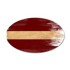 Latvia Flag 22x14 Oval Wall Peel