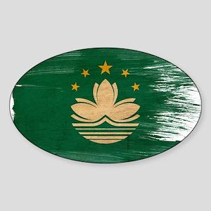 Macau Flag Sticker (Oval)