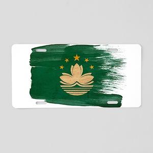 Macau Flag Aluminum License Plate