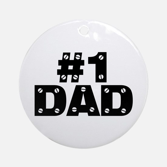 #1 Dad Ornament (Round)