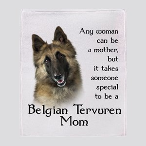 Belgian Tervuren Mom Throw Blanket