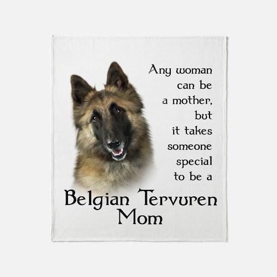 Belgian Tervuren Mom Throw Blanket