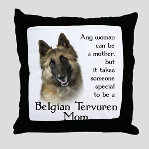 Belgian Tervuren Mom Throw Pillow