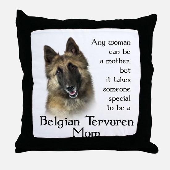 Belgian Tervuren Mom Throw Pillow