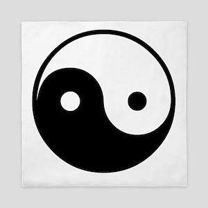 Black + White Yin Yang Queen Duvet
